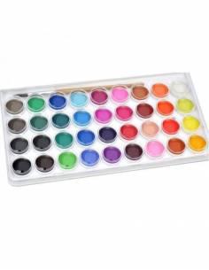 Acuarelas aguadas - 36 colores