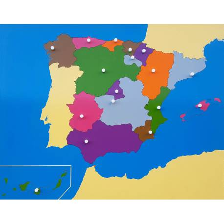 Mapa de España Montessori Nienhuis + láminas + etiquetas