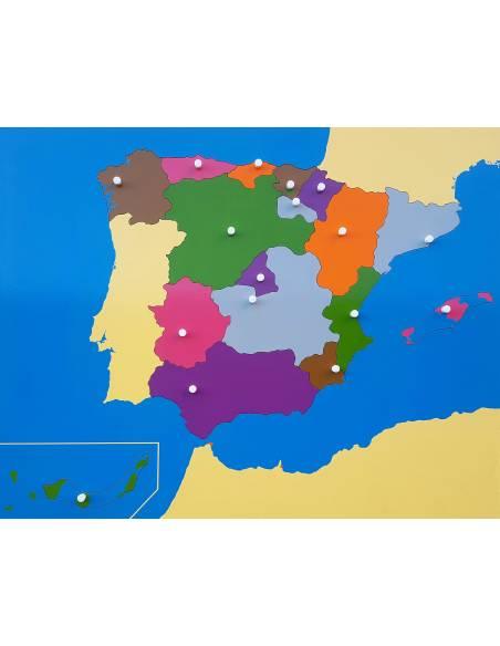 Mapa de España Montessori Nienhuis  Mapas de España