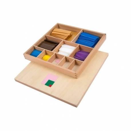 Tabla de pitágoras en madera sensorial