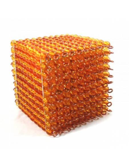 Cubo de 1000 - perlas  Sistema Decimal