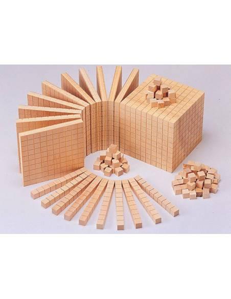 Base 10 en madera haya (100 uds)  Base 10