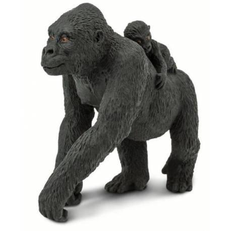 Gorila hembra con bebé