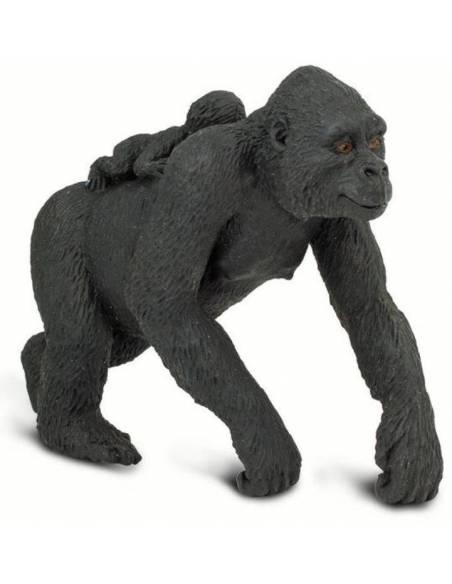 Gorila hembra con bebé  Animales Grandes