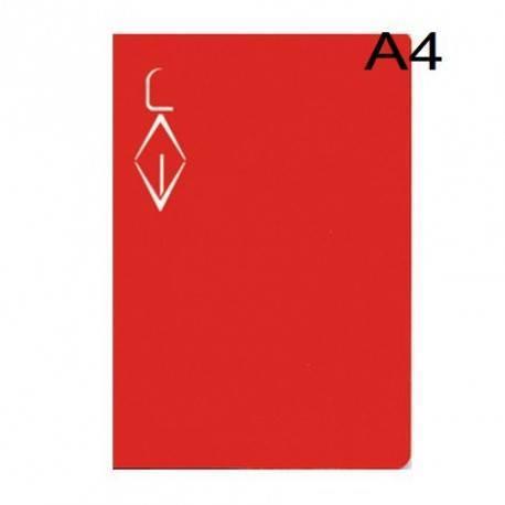 Libreta pauta Montessori DIN A4 5Mg -50 hojas 70 gr Rojo