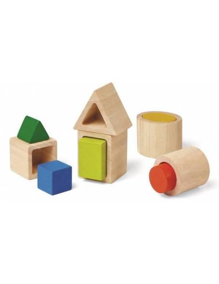 Formas geométricas encajables  De 1 a 3 años
