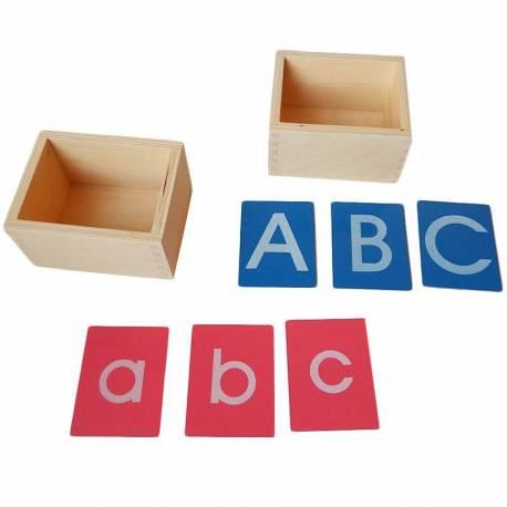 Pack letras de lija PEQUEÑAS imprenta con caja