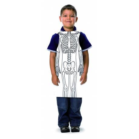 Delantal esqueleto  Cuerpo Humano y Alimentación