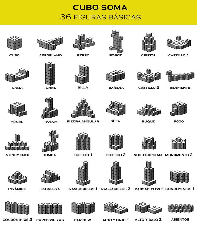 Figuras con cubo soma