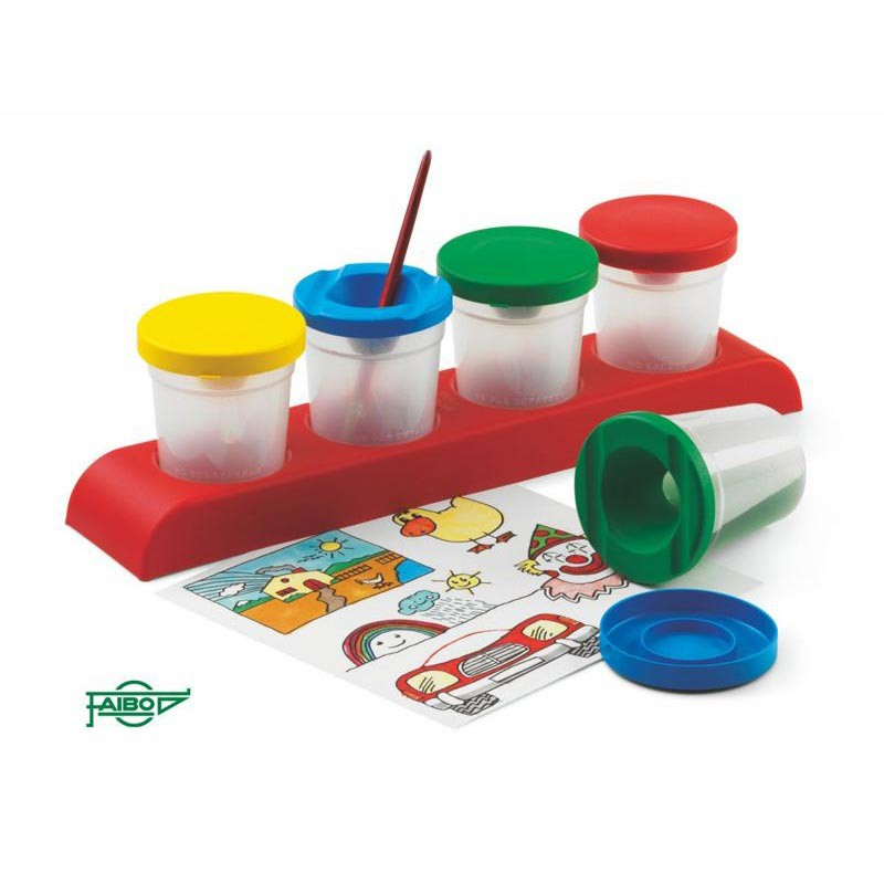 Pack de 4 botes inderramables