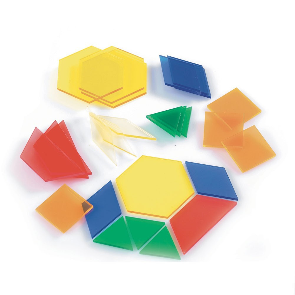 Formas geométricas translúcidas