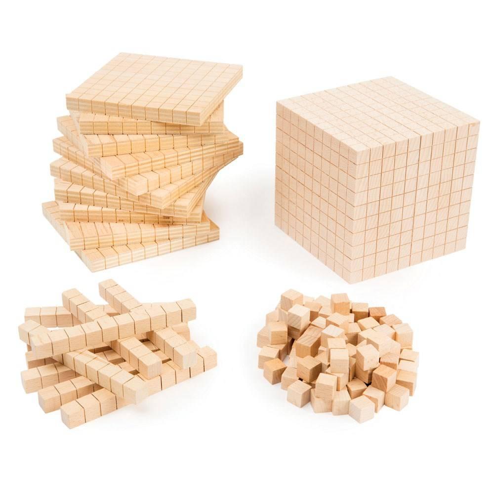 Base 10 en madera haya (100 uds)